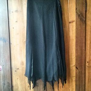 Silk Pixie Hem Skirt